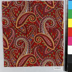 Piece | Russian | The Met Paisley Pattern, Paisley Print, Folk Print, Russian Fashion, Cotton Silk, Textile Design, Pattern Design, Textiles, Colours