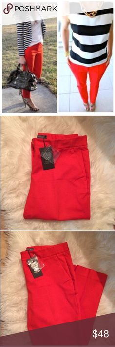 Vince Camuto Pants! Great pop of color for all seasons. Waist is 15.5'  across laying flat. Inseam 27'. 98% cotton, 2% spandex. 🚫Trades Vince Camuto Pants