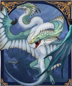 Double-headed dragon by Blue Black