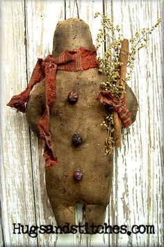 114  Grungy Ole Ginger Ornament ePattern by HugsAndStitchesPrims, $8.00
