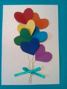 heart balloons card