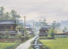 """Background from """"Grave of the Fireflies"""" by Ghibli Art Director Nizo Yamamoto Scenery Background, Animation Background, Grave Of The Fireflies, Anime Places, Aesthetic Japan, Environment Concept Art, Environmental Art, Anime Scenery, Plein Air"""