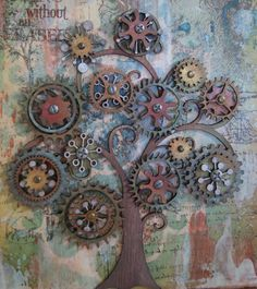 Cog Tree Canvas (close up) -  I think this is rather interesting and fits this protocol as well as any.