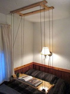 Mesa suspensa por cordas retratil | Wood Second Chance