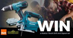 Win a Makita 18volt Drill and Jigsaw set courtesy of TradePoint!
