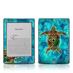 Decalgirl Kindle Skin - Sacred Honu by DecalGirl. $14.99. DecalGirl skins for Kindle feature distinct artwork printed in vibrant color onto premium adhesive-backed cast vinyl that is then sealed with a special sating/matte protective coating to reduce glare and prevent fingerpints.  Printed in the USA.