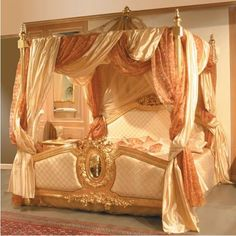 four poster canopy bed would be nice! Victorian Canopy Beds, Royal Room, Royal Bed, Boudoir, Home Decoracion, Artwork For Home, Four Poster Bed, Dreams Beds, Beautiful Bedrooms