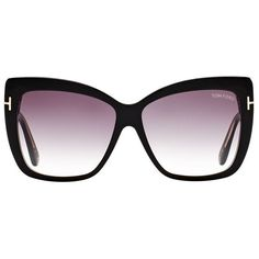 131c076b4f7 TOM FORD Irina Oversized Sunglasses ( 335) ❤ liked on Polyvore featuring  accessories