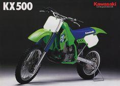 Vintage Brochures: Kawasaki KX 500 1988 (Usa)