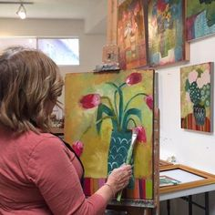 """""""Finishing up some pieces in the studio on Upper Canyon today..."""" Get a behind-the-scenes peek at the life of a Santa Fe artist on our Instagram this week! #art #contemporaryart #lifeofanartist"""