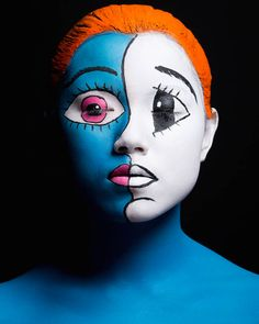 The students at beauty academy Make up for ever recently completed the challenging assignment of reinterpreting the work of Japanese artist Takashi Murakami as face painting and body art.  The results are truly breathtaking.  More beauty and fashion via Fubiz