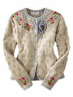 This embroidered cardigan is pretty cute