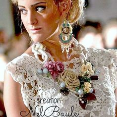 #crochet #bijou #jewellers #accessories #flower #soutache #necklace #collane #earrings #orecchini #colors #wedding #style #fashion #boho #instachic #instaphoti #instablogger #blogger #instacool #instacute