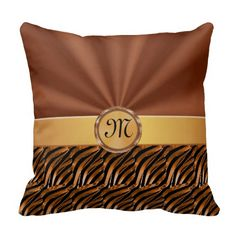 Shop Elegant Monogram Decorative Pillows, YOUR MONOGRAM Throw Pillow created by LittleLindaPinda. Personalize it with photos & text or purchase as is! Little Linda, Photo Pillows, Customizable Gifts, Macbook Case, Copper Color, Decorative Pillows, Personalized Gifts, My Design, Monogram