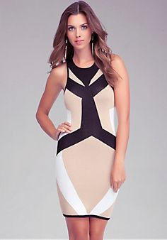 High Neck Colorblock Dress