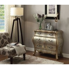 Vanas Bombay Chest in Silver