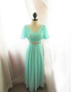 Breakfast at Tiffanys Soft Seafoam Blue Minty by RiverOfRomansk, $168.50