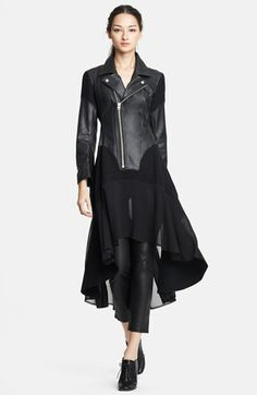 Junya Watanabe Faux Leather Biker Dress available at #Nordstrom