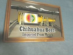 Chihuahua Beer Imported from Mexico Mirror Sign Bar Man Cave Collectible 14 X 20