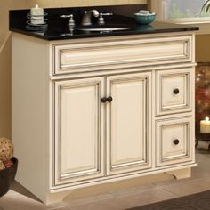 The Sanibel bath vanity from Sunny Wood.  Find out more at www.sunnywood.biz.