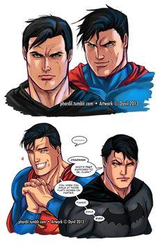 Clark/Bruce Tumblr dump by Phardil.deviantart.com on @deviantART