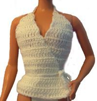 Crochet Barbie Top- thinking a stocking stuffer for Christmas.