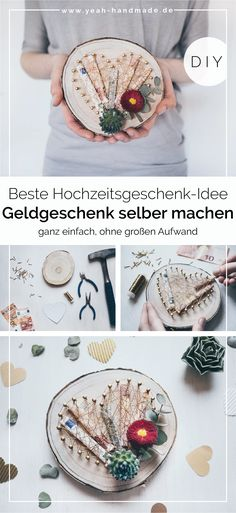 DIY DIY money gift for the wedding - Geschenk - hochzeit Creative Wedding Gifts, Diy Wedding Gifts, Wedding Crafts, Diy Gifts, Wedding Favors, Wedding Decorations, Wedding Ideas, Pot Mason Diy, Mason Jar Crafts