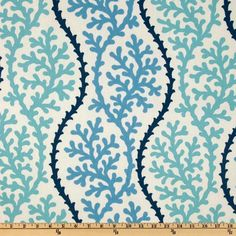 P Kaufmann Coral Splendor Pacific - check out all the other coral or sea themed fabrics on this site!