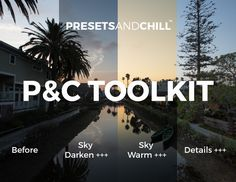 PRESETS AND CHILL TOOLKIT - Adobe LR by PRESETS and CHILL on @creativemarket. Fully customizable, compatible with Mac and Windows and can be used with Raw or JPEG images.