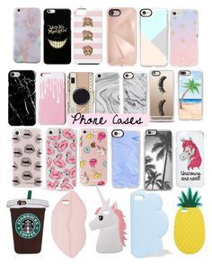 """Phone Cases "" by leahdxx on Polyvore featuring Recover, Kate Spade, Casetify, Rebecca Minkoff, Sonix, Skinnydip, The Casery, Miss Selfridge and STELLA McCARTNEY"
