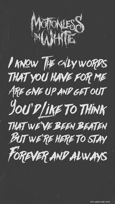 Falling In Reverse Live Wallpaper Ghost In The Mirror Motionless In White Lyrics