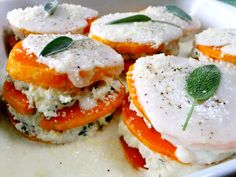 Butternut squash lasagna with infused bechamel