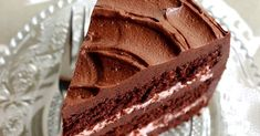 Dark Chocolate Raspberry Layer Cake, by Baksugen Dark Chocolate Recipes, Melting Chocolate Chips, Chocolate Cakes, Chocolate Frosting, Chocolate Extract, Cake Recipes, Snack Recipes, Party Sandwiches, Baking Party