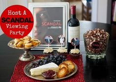 How to Host a Scandal Viewing Party - recipe for In The Hole bites, Gladiator Shots and Dark Chocolate Popcorn by Cheri Liefeld