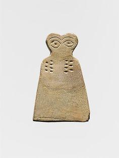 Eye idol, Period: Middle Uruk Date: ca. 3700–3500 B.C. Geography: Syria, Tell Brak