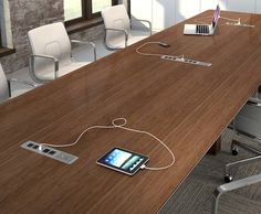 MidBack Wood Swivel Conference Chair In Leather By Flash Furniture - Conference room table electrical outlets