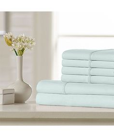 Blue Premium 500-Thread Count Cotton Sheet Set