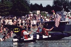 World Championship Cardboard Boat Races, Heber Springs, Arkansas Heber Springs, World Championship, Arkansas, Diving, Traveling, Natural, Projects, Kids
