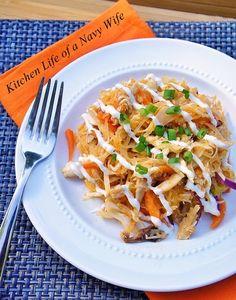 The Kitchen Life of a Navy Wife: Buffalo Chicken Spaghetti Squash