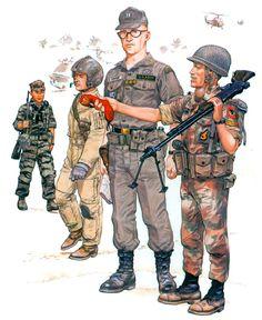Military Units, Military Figures, Military Photos, Military Art, Military History, Military Uniforms, Military Drawings, Vietnam War Photos, Military Insignia