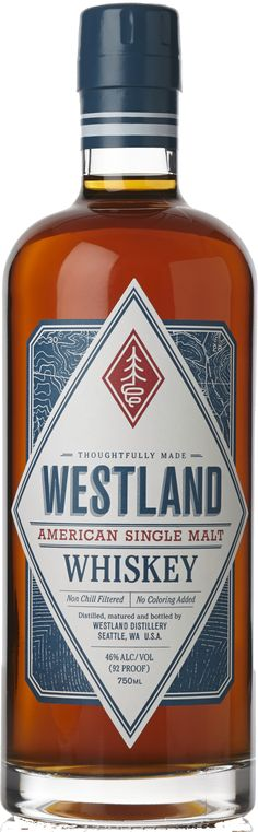 Crafted with five unique barley malts in the heart of the Pacific Northwest, this American single malt whiskey is aged for a minimum of 24 months. Wine And Liquor, Wine And Beer, Liquor Store, Scotch Whiskey, Bourbon Whiskey, Westland Distillery, Scottish Festival, Whiskey Distillery, Whisky Bar