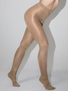 American Apparel Opaque Liquid Metallic Pantyhose