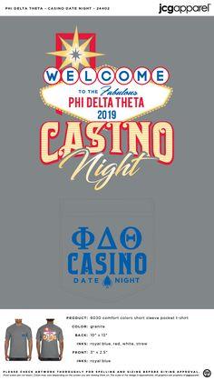 Phi Delta Theta Casino Date Night Shirt | Fraternity Casino Date Night | Greek Casino Date Night #phideltatheta #phidelt #Casino #Date #Night