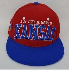 huge discount dbe48 1f0b6 Kansas Jayhawks KU NCAA Authentic Zephyr Cap Flat Brim Snapback Hat - NEW   jayhawks