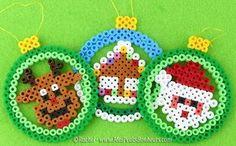 Santa Claus balls and his RUDOLPH reindeer in Hama Pearls - Tutorial - Christmas . - Santa Claus balls and his RUDOLPH reindeer in Hama Pearls – Tutorial – Santa Claus balls and hi - Christmas Perler Beads, Diy Perler Beads, Perler Bead Art, Melty Bead Patterns, Hama Beads Patterns, Beading Patterns, Art Perle, Motifs Perler, Peler Beads