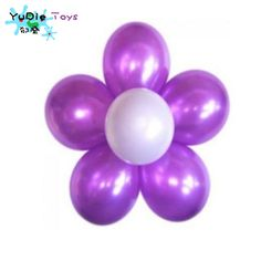 1 set = 6 + 1 fragments balloon 10 inch pearl 1.2 g inflatable latex balloon