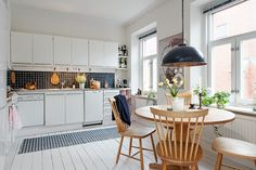 foorni.pl | Skandynawskie wzory, jadalnia w kuchni