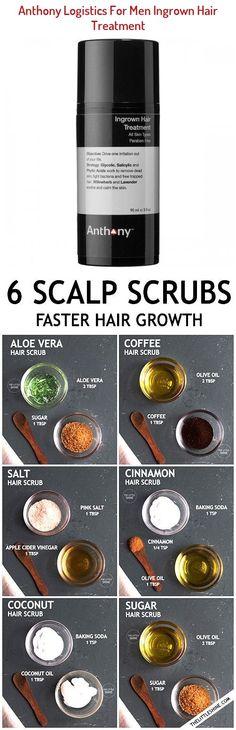 Ingrown Hair Treatment - Anthony | Sephora Hair Scrub, Scalp Scrub, Hair Remedies For Growth, Hair Growth, Cold Remedies Fast, Cinnamon Hair, Coffee Hair, Ingrown Hair, Damaged Hair