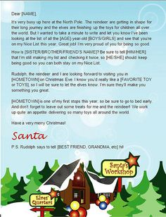 Letter from santa templates free printable santa letters letter from santa template word spiritdancerdesigns Choice Image