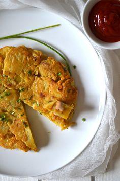 Tortilla de pommes de terre aux oignons { 100% végétale } // Vegan potato tortilla with onions http://www.lesrecettesdejuliette.fr